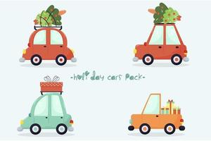 Holiday Cars Pack vector