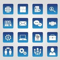 Set of 16 Administrator Icons vector