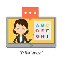 Teacher Teaching Online Lessons