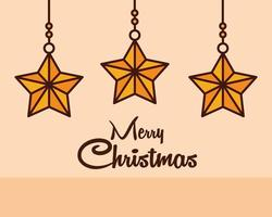 composición de línea de navidad con estrellas