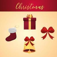 conjunto de iconos detallados de navidad