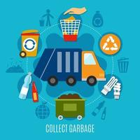 Collect Garbage Circle Chart vector
