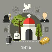 Cemetery Concept Chart vector