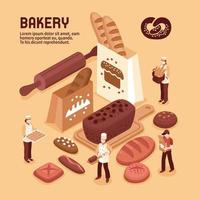 Isometric Bakery Composition