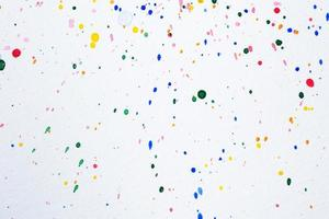 Watercolor droplets on white paper
