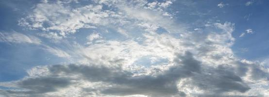 Sky background with clouds photo