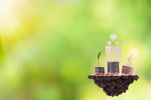 Saving power and saving money concept photo