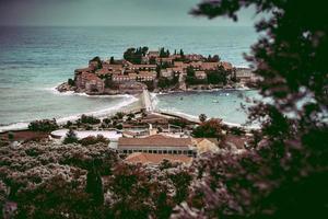 Sceti Stefan island in Montenegro photo