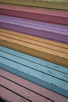 Colorful wooden steps
