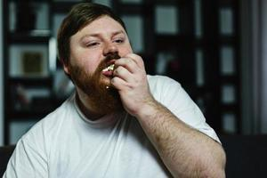 Man stuffing his face