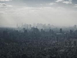 Fotografía aérea de edificios de la ciudad. foto