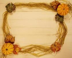 Fall-themed background text frame