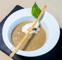 Beautiful mushroom soup