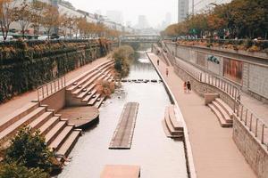 Canal in Seoul, Korea photo