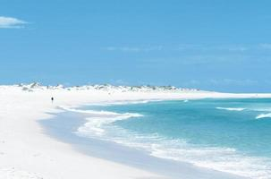 White sandy beach during the day