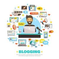 Hello Blogger Template Banner with icons