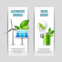 conjunto de banner vertical de ecología vector