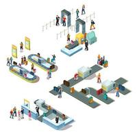 Airport Isometric Composition Set vector