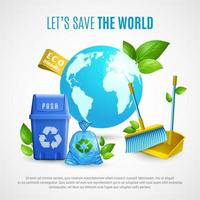 Ecology Realistic Template Banner vector