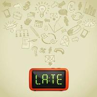 concepto de retraso empresarial vector