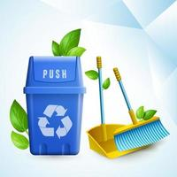 Eco Cleaning Realistic Composition vector