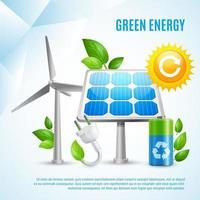 Green Energy Template Banner vector