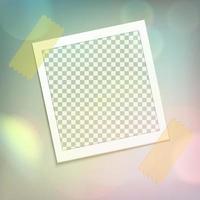 marco de fotos realista vector