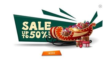 Christmas sale white pop up for website vector