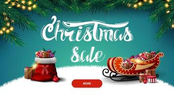 Christmas sale, discount banner vector