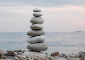 Stones balance - pebbles stack photo