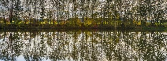 reflection of trees in river tauber photo
