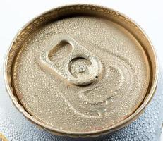 wet aluminum can with drink