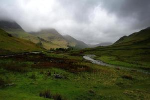 Low clouds over the fells photo