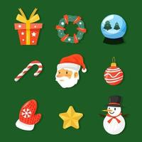 Cute Chrismas Element Icon Collection