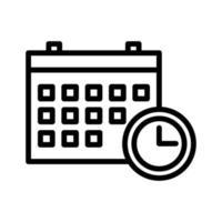 icono de vector de fecha límite