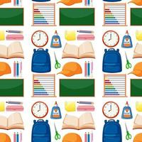 Set of stationary tools and school seamless