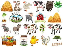 conjunto de elementos de la granja