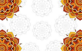 Background template with mandala pattern design vector