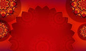 Background template with mandala designs vector