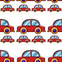 Dibujos animados de azulejos de patrones sin fisuras con coche de juguete vector