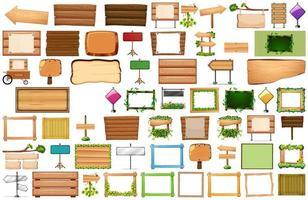 conjunto de varios carteles de signo vector