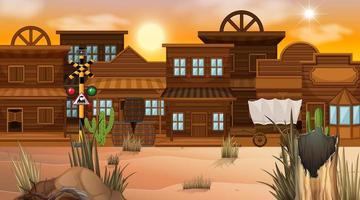 Western desert themed scene in nature vector