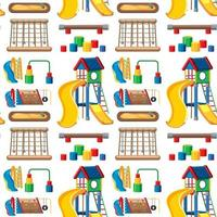 Set of stationary tools and school seamless vector