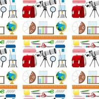 diseño de fondo transparente con artículos escolares vector