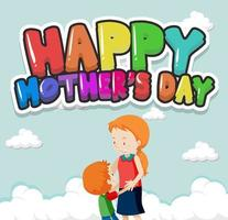 Happy mother's day sign vector