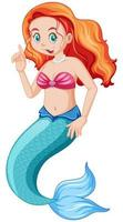 lindo personaje de dibujos animados de sirena
