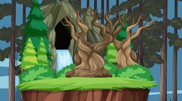 Nature scene landscape template