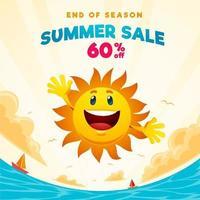End of season summer sale banner