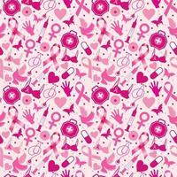 mes de concientización sobre el cáncer de mama, patrón sin costuras