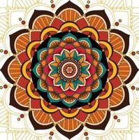 Mandala pattern design on white background vector